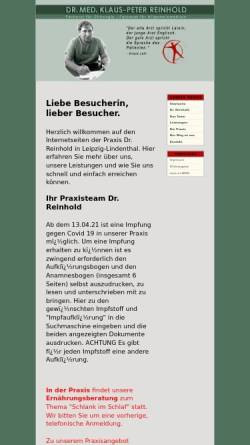 Vorschau der mobilen Webseite www.praxis-reinhold.de, Reinhold, Dr. med. Klaus-Peter