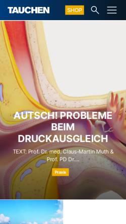 Vorschau der mobilen Webseite www.tauchen.de, Tauchen.de
