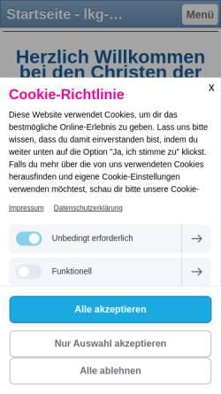 Vorschau der mobilen Webseite lkg-aue.jimdo.com, LKG Aue in Sachsen