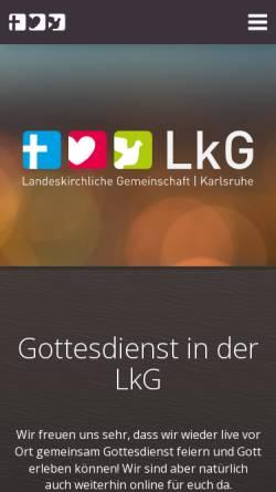 Vorschau der mobilen Webseite www.lkg-karlsruhe.de, LKG und EC Karlsruhe