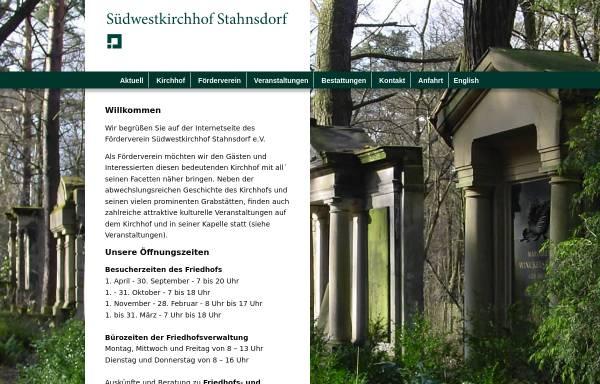 Vorschau von www.suedwestkirchhof.de, Südwestkirchhof Stahnsdorf