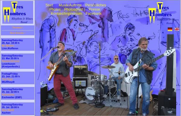 Vorschau von www.tres-hombres-rb.de, Tres Hombres Rhythm & Blues