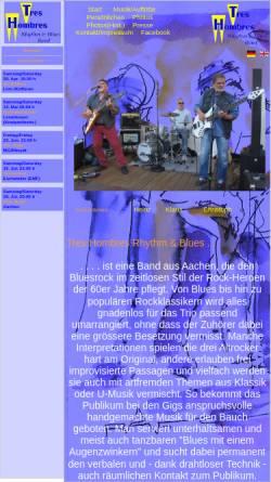 Vorschau der mobilen Webseite www.tres-hombres-rb.de, Tres Hombres Rhythm & Blues