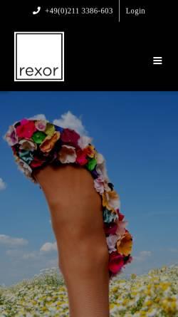 Vorschau der mobilen Webseite rexor.de, Rexor Schuh-Einkaufsvereinigung GmbH