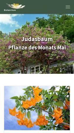 Vorschau der mobilen Webseite www.botanikus.de, Botanikus
