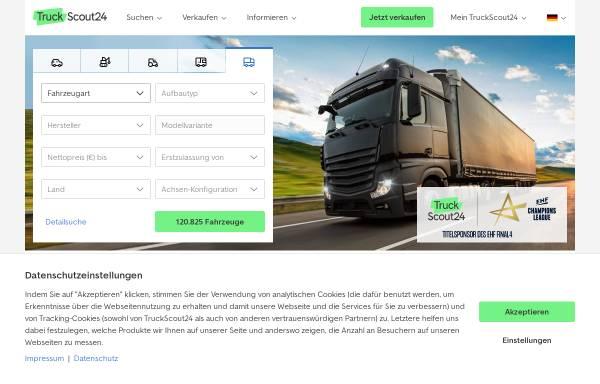 Vorschau von www.truckscout24.de, TruckScout24 GmbH