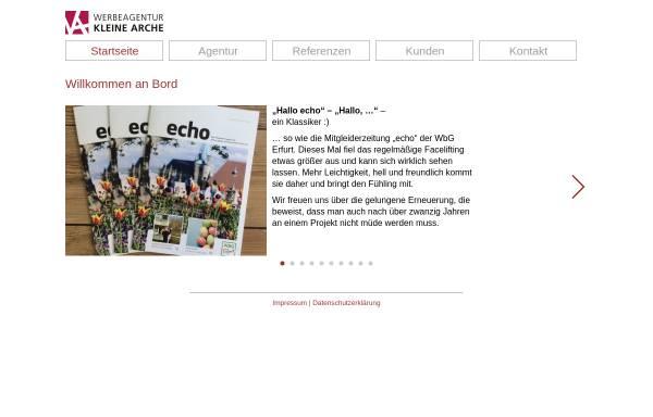 Vorschau von www.kleinearche.de, Werbeagentur und Verlag Kleine Arche