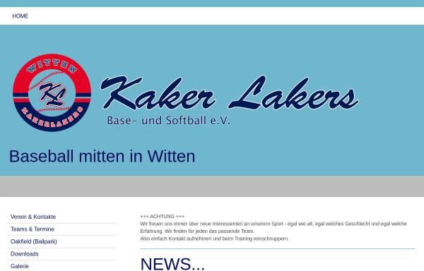 Vorschau von witten-kakerlakers.de, Baseballverein Witten KakerLakers 1992 e.V.