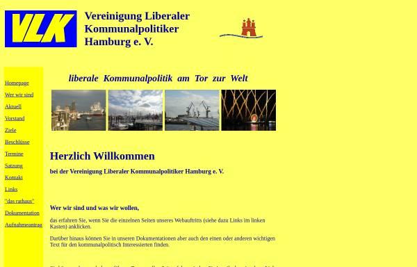 Vorschau von www.vlk-hamburg.de, Vereinigung Liberaler Kommunalpolitiker Hamburg