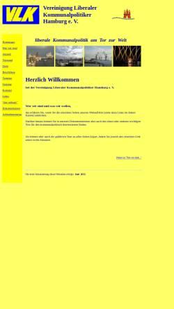 Vorschau der mobilen Webseite www.vlk-hamburg.de, Vereinigung Liberaler Kommunalpolitiker Hamburg