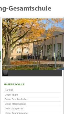 Vorschau der mobilen Webseite www.mlkgdortmund.de, Martin Luther King Gesamtschule