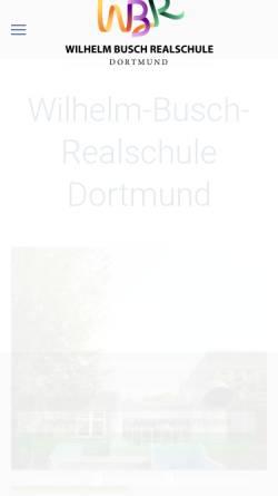 Vorschau der mobilen Webseite www.wbr-do.de, Wilhelm Busch Realschule