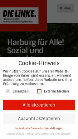 Vorschau der mobilen Webseite www.linksfraktion-hamburg-harburg.de, Die Linke Harburg