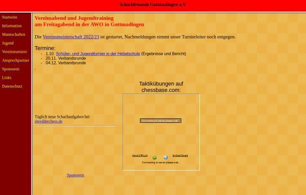 Vorschau von www.sf-gottmadingen.de, Schachfreunde Gottmadingen e.V.