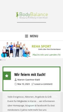 Vorschau der mobilen Webseite www.bodybalance-duisburg.de, BodyBalance