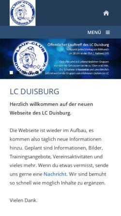 Vorschau der mobilen Webseite www.laufclub-duisburg.de, Lauf-Club Duisburg e.V.