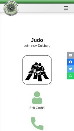 Vorschau der mobilen Webseite psv-duisburg.de, PSV-Duisburg-Judo