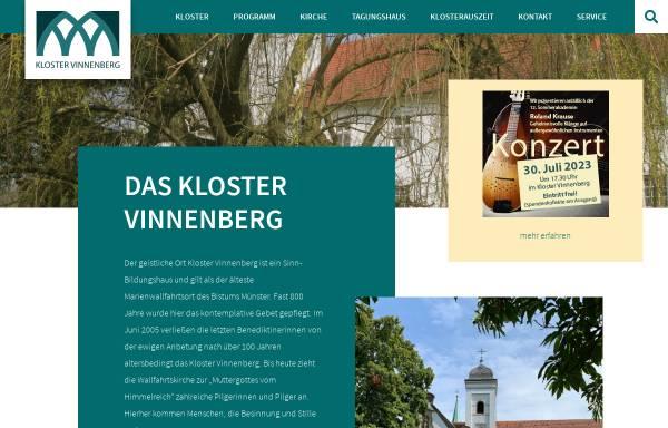 Vorschau von www.kloster-vinnenberg.de, Kloster Vinnenberg