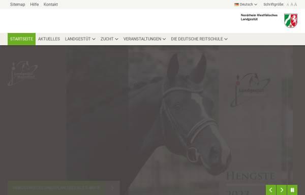 Vorschau von www.landgestuet.nrw.de, Nordrhein-Westfälischen Landgestüt Warendorf
