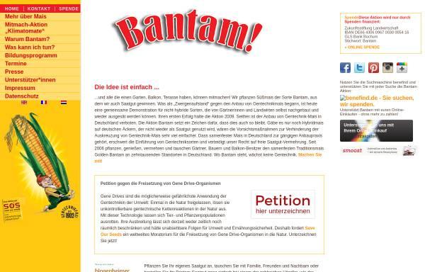 Vorschau von www.bantam-mais.de, Aktion Bantam-Mais