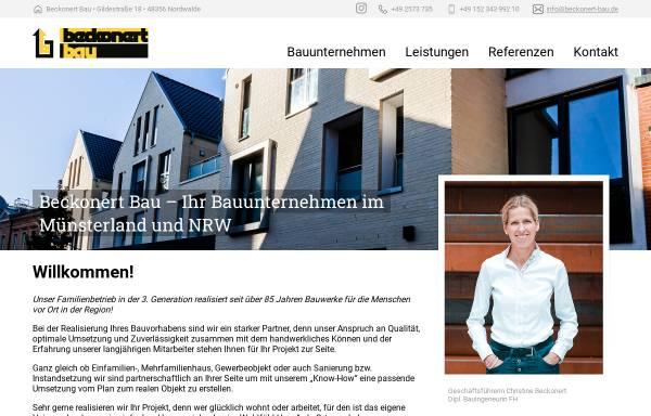 Vorschau von www.beckonert-bau.de, Beckonert Bau GmbH & Co. KG