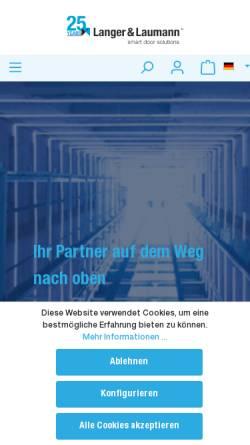 Vorschau der mobilen Webseite www.lul-ing.de, Langer & Laumann Ing. Büro GmbH