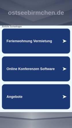 Vorschau der mobilen Webseite www.ostseebirmchen.de, Von der Ostsee
