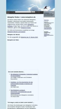 Vorschau der mobilen Webseite www.metaphern.de, Metaphern.de