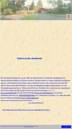 Vorschau der mobilen Webseite www.ilse-eickhoff-akademie.de, Ilse-Eickhoff-Akademie Bremen-Blumenthal