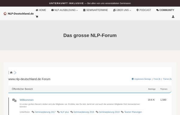 Vorschau von www.nlp-deutschland.de, NLP Deutschland