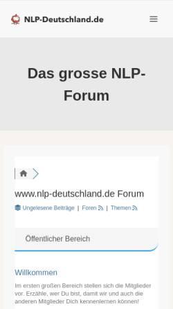 Vorschau der mobilen Webseite www.nlp-deutschland.de, NLP Deutschland