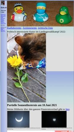 Vorschau der mobilen Webseite www.thola.de, Heimat von Thorsten Lange