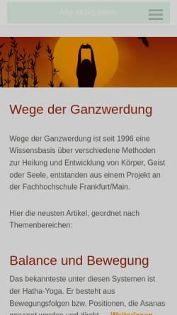 Vorschau der mobilen Webseite www.lichtinfo.net, Lichtinfo - Spirituelles im Internet - Joachim Nickel