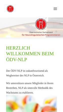 Vorschau der mobilen Webseite www.oedv-nlp.at, Österreichischer Dachverband für NLP