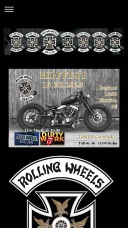 Vorschau der mobilen Webseite www.rolling-wheels.de, Rolling Wheels MC Berlin