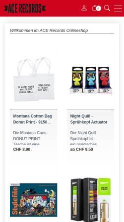 Vorschau der mobilen Webseite www.acerecords.ch, ACE Records