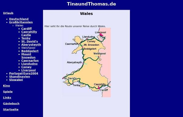 Vorschau von www.tinaundthomas.de, Reise durch Wales [Thomas Scheibel & Tina Kopp]