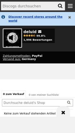 Vorschau der mobilen Webseite www.deluidspreker.de, De Luidspreker Mailorder