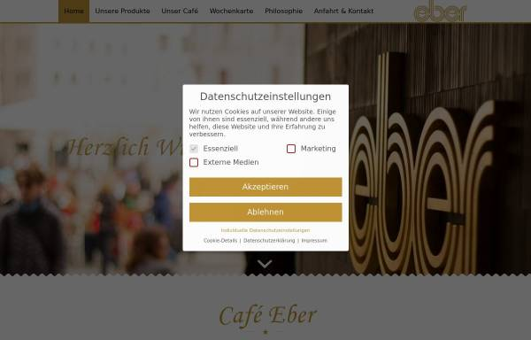 Vorschau von www.cafe-eber.de, Café Eber GmbH