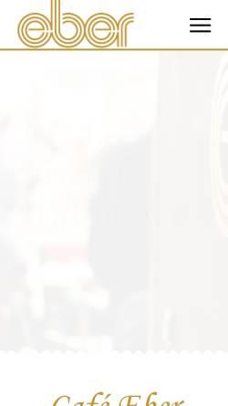 Vorschau der mobilen Webseite www.cafe-eber.de, Café Eber GmbH