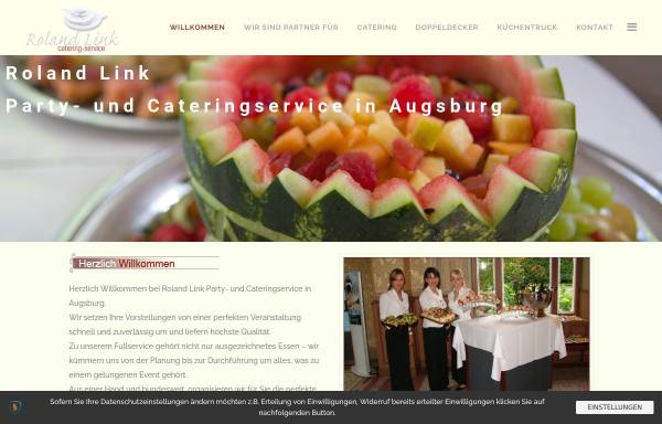 Vorschau von www.augsburger-catering.de, Cateringservice Roland Link