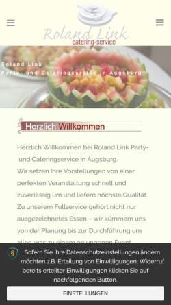 Vorschau der mobilen Webseite www.augsburger-catering.de, Cateringservice Roland Link