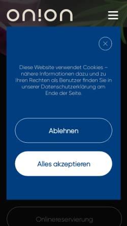 Vorschau der mobilen Webseite www.mronions.de, Mr. Onions Cocktailbar