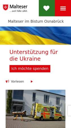 Vorschau der mobilen Webseite www.sgs.malteser-osnabrueck.de, Malteser Hilfsdienst e.V., Stadtgeschäftstelle Osnabrück