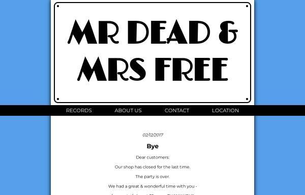 Vorschau von www.deadandfree.com, Mr Dead and Mrs Free