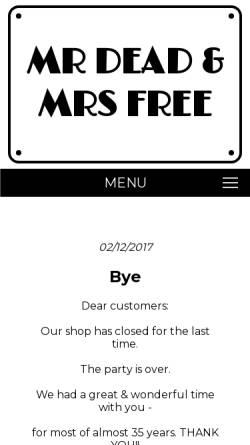 Vorschau der mobilen Webseite www.deadandfree.com, Mr Dead and Mrs Free