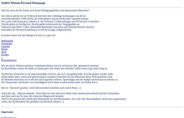 Vorschau von www.ataraxis.de, Steffen Wittum Soft- und Hardware