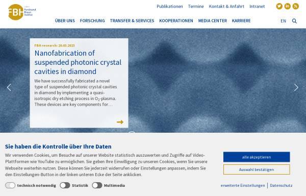 Vorschau von www.fbh-berlin.de, Ferdinand-Braun-Institut für Höchstfrequenztechnik