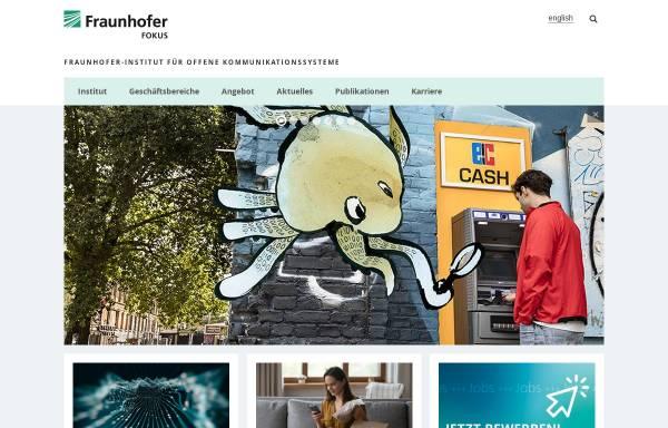 Vorschau von www.fokus.fraunhofer.de, Fraunhofer Institut für Offene Kommunikationssysteme FOKUS