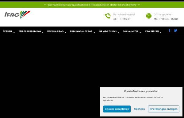 Vorschau von www.ifag-berlin.de, IFAG Institut für angewandte Gerontologie